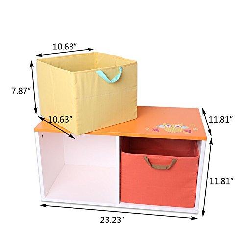 Kids Storage Bench Furniture Toy Box Bedroom Playroom: Labebe Wooden Children Furniture 2-in-1 Toy Box & Bench