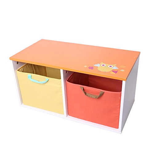Kids Storage Bench Furniture Toy Box Bedroom Playroom: Labebe Wooden Children Furniture 2-in-1 Toy Box & Bench