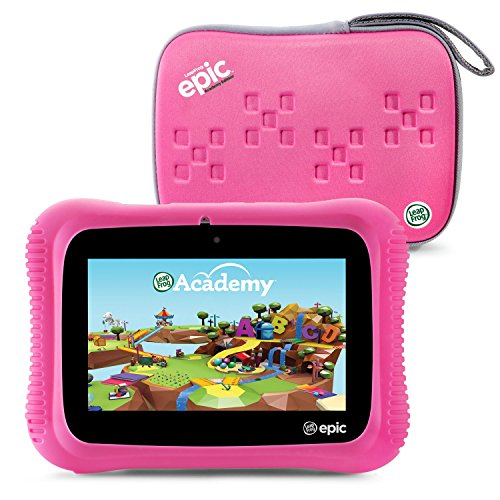 LeapFrog-Epic-Academy-Edition-7-Android-20-Based-Kids-Tablet-16GB-with-Carrying-Case-Pink-0