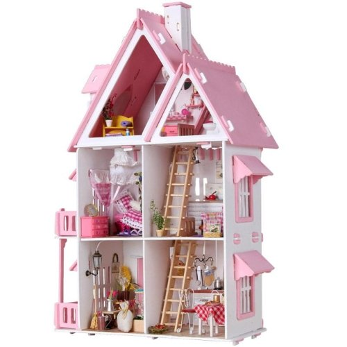 Diy Miniature Doll House Flat Packed Cardboard Kit Mini: LightInTheBox Teenage Dream, Gifts For Girls,Large Dream