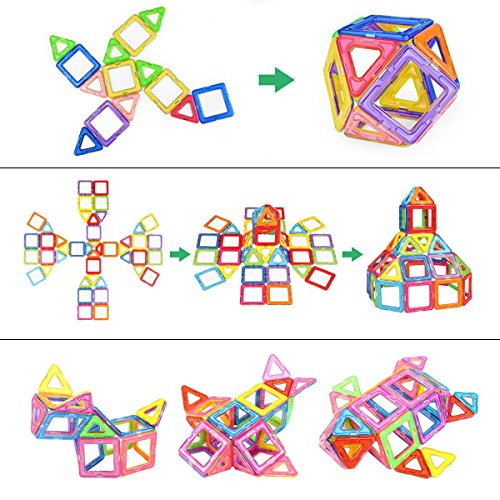 Mibote Magnetic Building Blocks Magnet Tiles Set