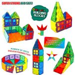Magnetic-Building-Blocks-606-Extra-Magnetic-Tiles-3D-Magnet-Building-Toys-set-Educational-Construction-Magnetic-Blocks-for-Kids-Strong-Metallic-Rivets-Varied-Shapes-Translucent-Rainbow-Colors-0-0