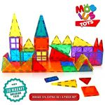 Magnetic-Building-Blocks-606-Extra-Magnetic-Tiles-3D-Magnet-Building-Toys-set-Educational-Construction-Magnetic-Blocks-for-Kids-Strong-Metallic-Rivets-Varied-Shapes-Translucent-Rainbow-Colors-0