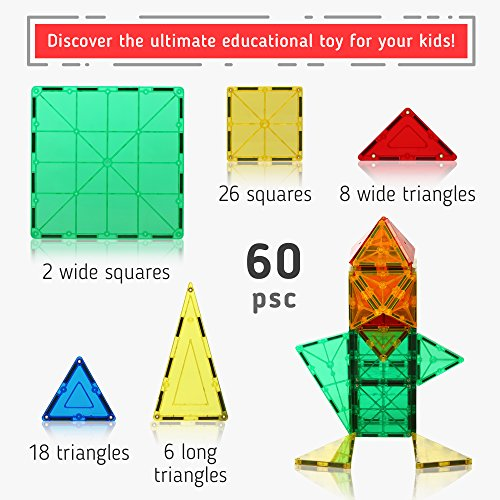 Magnetic-Building-Tiles-60-pcs-Large-Blocks-Set-3D-Educational-Toys-for-Boys-and-Girls-Great-for-3-Years-Old-Kids-Tiles-with-Innovative-Build-Magnets-Great-Gift-for-Children-0-0