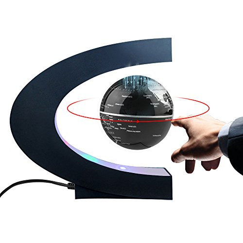 Magnetic Levitation Floating World Map Globe C Shape Base ...