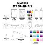 Make-Your-Own-Slime-Slime-Kit-W-Containers-Clay-Slime-Beads-Glue-Glitter-Powders-with-Slime-Recipes-For-Making-Color-Clear-and-Different-Types-of-Slime-How-to-Make-Slime-Instructions-Included-0-0