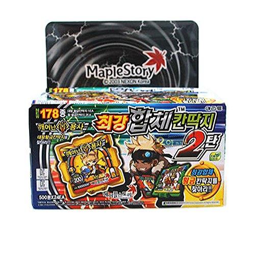 Maple-Story-Supreme-Ddakji-Pasteboard-Game-with-Bonus-Cards-24-Packs-x-1-Case-Set-0-0