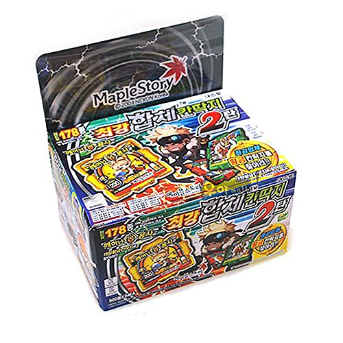 Maple-Story-Supreme-Ddakji-Pasteboard-Game-with-Bonus-Cards-24-Packs-x-1-Case-Set-0-1