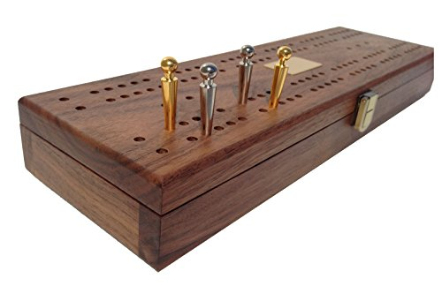 Mariner-Classic-Domino-Set-with-Black-Walnut-Case-Premium-Quality-28-Indestructible-Double-Six-Dominoes-with-2-18-Karat-Gold-plated-and-2-Nickel-plated-Scoring-Pegs-0-0