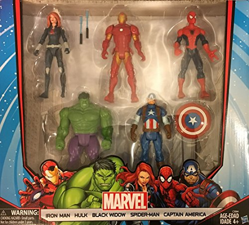 Marvel-Avengers-Action-Figures-Iron-Man-Hulk-Black-Widow-Spider-Man-Captain-America-0