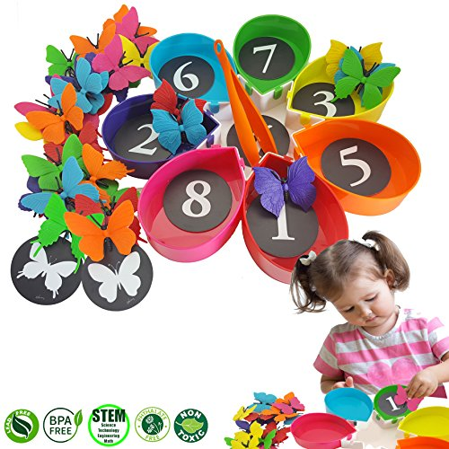 Preschool Toys 3 5 Years : Matching sorting counting toy skoolzy butterfly garden