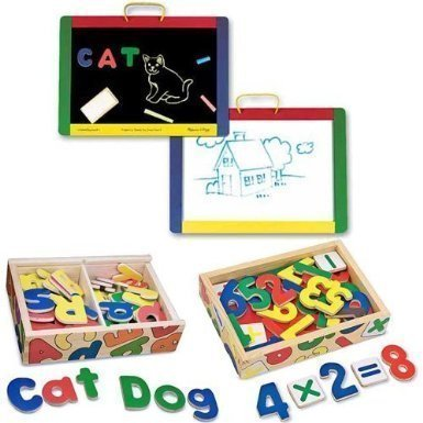 Melissa And Doug Magnetic Chalk Dry Erase Board With
