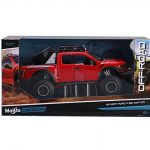 NEW-124-WB-MAISTO-OFF-ROAD-KINGS-COLLECTION-RED-2017-FORD-F-150-RAPTOR-Diecast-Model-Car-By-Maisto-0-0
