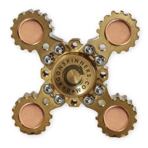 NEW-2017-ORIGINAL-DRAGON-SPINNER-4-Winged-Brass-Hand-Fidget-Spinner-Toy-EDC-Luxury-Helps-You-Focus-And-Reduce-Stress-SPINS-UP-TO-6-MINUTES-0