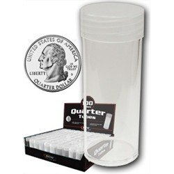 NEW-BCW-COIN-TUBES-QUARTER-BOX-OF-100-0