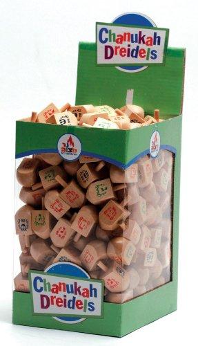 Natural-Wood-Dreidels-Box-of-25-Large-Size-0
