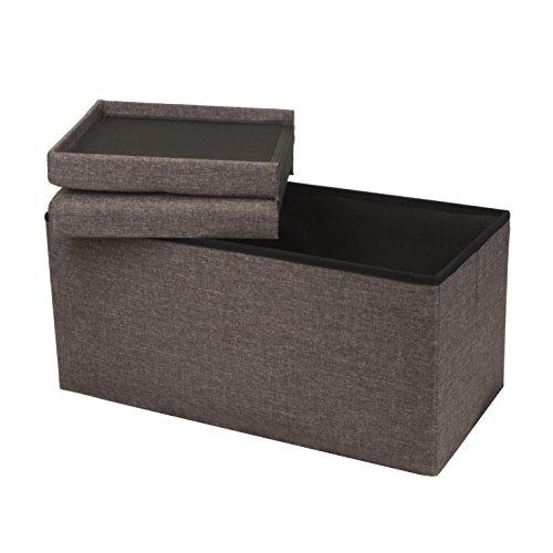 Otto-Ben-30-SMART-LIFT-TOP-Ottoman-Bench-Brown-Folding-Storage-Ottoman-Stool-Linen-Fabric-0-2