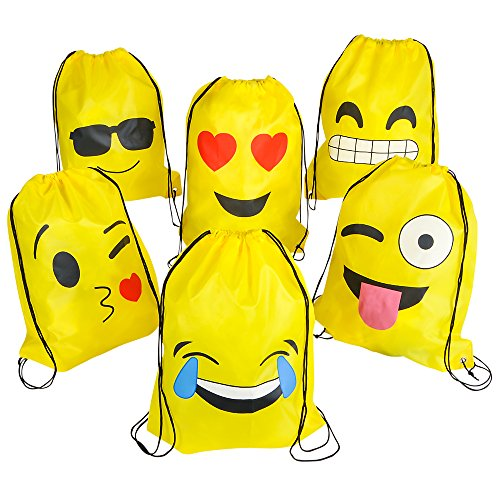 PREMIUM-Emoji-Party-Supplies-Bundle-36-Items-incl-6-Fidget-Hand-Spinners-6-Backpacks-12-Plush-Backpack-Clips-12-Rubber-Bracelets-1-BONUS-Item-0-2