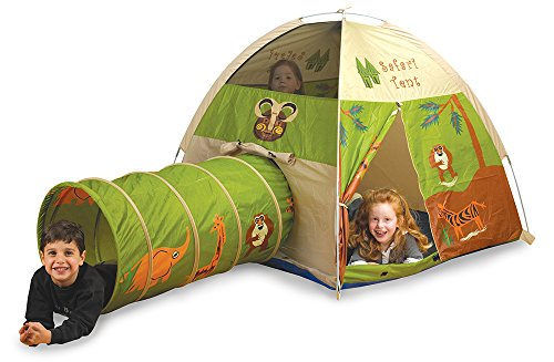 Pacific-Play-Tents-Kids-Safari-Fun-Dome-Tent-and-Crawl-Tunnel-Combo-for-Indoor-Outdoor-Fun-0-0