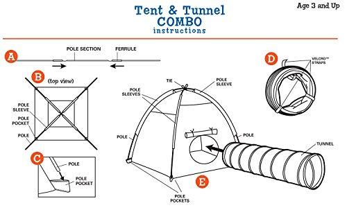 Pacific-Play-Tents-Kids-Safari-Fun-Dome-Tent-and-Crawl-Tunnel-Combo-for-Indoor-Outdoor-Fun-0-1