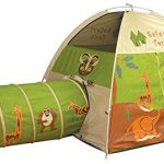 Pacific-Play-Tents-Kids-Safari-Fun-Dome-Tent-and-Crawl-Tunnel-Combo-for-Indoor-Outdoor-Fun-0