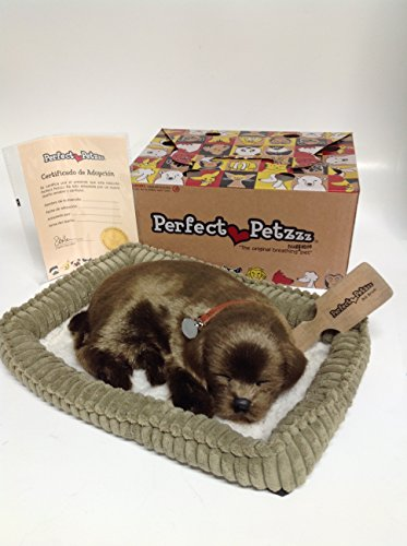 Perfect-Petzzz-Huggable-Breathing-Puppy-Dog-Pet-Bed-Chocolate-Lab-0