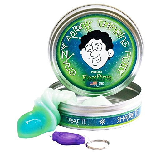 Phantom-FOXFIRE-Green-Glow-in-Dark-UV-Crazy-Aaron-Thinking-PUTTY-Large-4-tin-32oz-silly-desk-toy-For-Ages-8-0-0