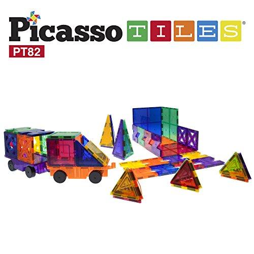 Picassotiles 82 Piece Building Blocks 82pcs Creativity Kit