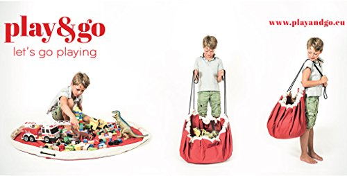 PlayGo-Large-Children-Diamond-Play-Mat-and-Toy-Organizer-Storage-55-Bag-Portable-Container-for-Storing-Kids-Toys-Grey-0-1