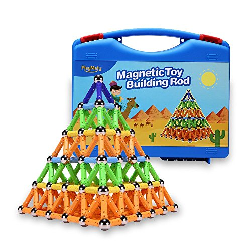 Playmaty 306 Pieces Magnetic Building And Construction