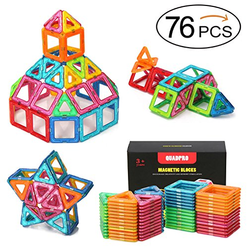 Toy Building Set For Boys : Quadpro piece magnetic blocks building toys for boys