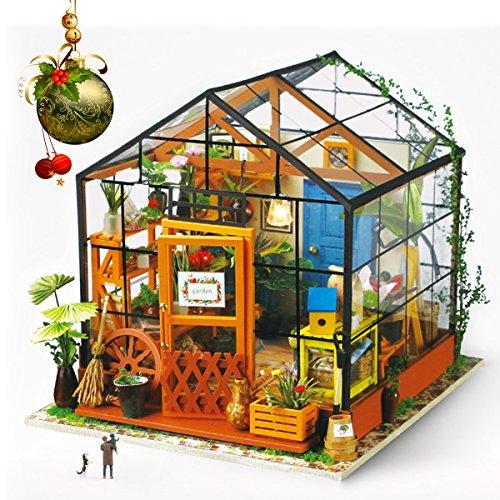 Diy Christmas Light Controller Kit: ROBOTIME DIY Dollhouse Wooden Miniature Furniture Kit Mini