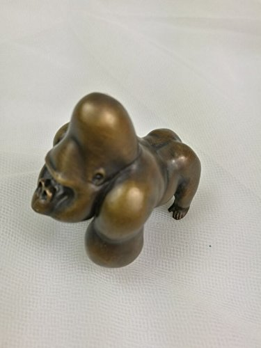 Retro-Brass-King-Kong-gorilla-Skeleton-island-figure-statu-Original-Handmade-paperweight-0