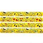Rhode-Island-Novelty-Emoticon-Slap-Bracelet-Pack-of-12-9-Inch-0-1