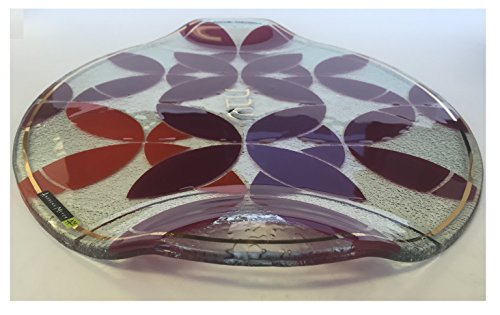 Round-Glass-Shabbat-Challah-Tray-with-Red-Kaleidoscope-Design-0-1
