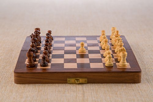 Rusticity-Wood-Magnetic-Chess-Set-with-Folding-Board-and-Chess-Pieces-Handmade-10×10-in-0-0
