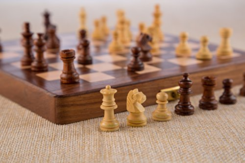 Rusticity-Wood-Magnetic-Chess-Set-with-Folding-Board-and-Chess-Pieces-Handmade-10×10-in-0-2