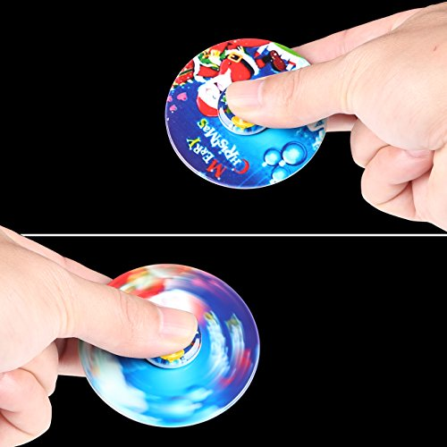 SCIONE-Christmas-Day-Fidget-Spinner-12-Pack-ADHD-Stress-Relief-Anxiety-Toy-Best-Autism-Hand-spin-for-Adults-Children-Finger-Toy-with-Bearing-0-1