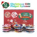 SCIONE-Christmas-Day-Fidget-Spinner-12-Pack-ADHD-Stress-Relief-Anxiety-Toy-Best-Autism-Hand-spin-for-Adults-Children-Finger-Toy-with-Bearing-0