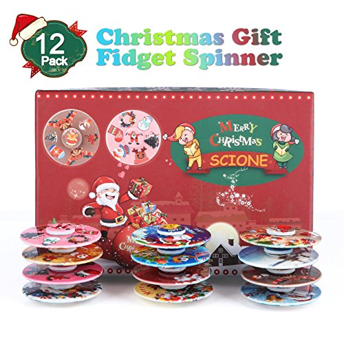 Toys For Christmas For Adults : Scione christmas day fidget spinner pack adhd stress