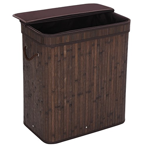 Songmics Folding Laundry Basket With Lid Handles And