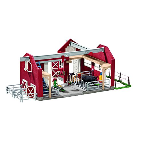 Schleich-Farm-World-Large-Red-Barn-with-Animals-Accessories-Toy-Figure-0-1