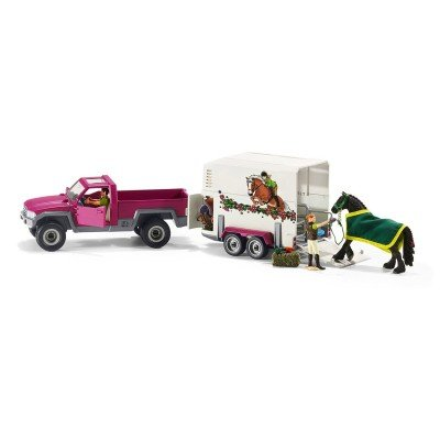 Schleich-North-America-Pick-Up-with-Horse-Trailer-Playset-0