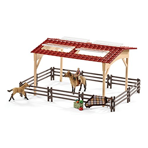 Schleich-North-America-Schleich-Stable-with-Horses-Accessories-Toy-0-0