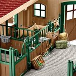Schleich-North-America-Schleich-Stable-with-Horses-Accessories-Toy-0-1