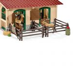 Schleich-North-America-Schleich-Stable-with-Horses-Accessories-Toy-0-2