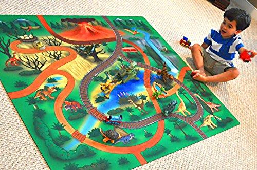 Silli Me Large Dinosaur Rubber Backed Children S Play Mat
