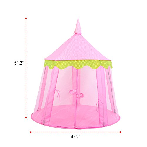 huge discount 9a0ab a765f SpringBuds Pink Princess Castle Kids Play Tent Large Children Playhouse for  Girls Indoor Outdoor Use
