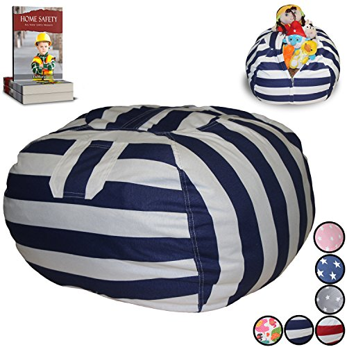 Stuffed-Animal-Storage-Bean-Bag-Chair-Finest-Storage-Hammock-Organizer-for-kids-Plush-Jumbo-Cuddly-Toys-Premium-Quality-Cotton-Canvas-Free-E-Book-0
