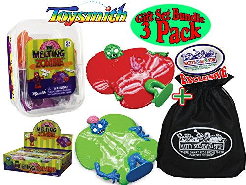 Toysmith-Melting-Zombie-SlimePutty-Red-Green-Purple-Complete-Gift-Set-Party-Bundle-with-Exclusive-Mattys-Toy-Stop-Storage-Bag-3-Pack-0